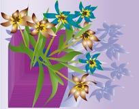 Flores & vaso Fotografia de Stock