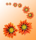 Flores anaranjadas Stock de ilustración
