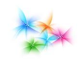 Flores artísticas coloridas Imagem de Stock Royalty Free