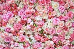 Flores artificiais bonitas para o fundo Imagens de Stock Royalty Free