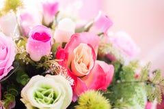 Flores artificiales coloridas del ramo Foto de archivo