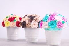 Flores artificiales de rosas Fotografía de archivo libre de regalías