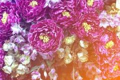 Flores artificiales del paño para el fondo Imagen de archivo