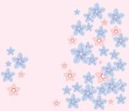 Flores azuis Ilustração do Vetor