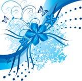 Flores azuis abstratas Fotografia de Stock Royalty Free