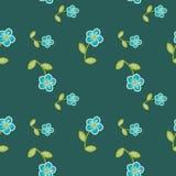 Flores azules stock de ilustración