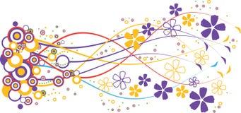 Flores azules y amarillas Foto de archivo libre de regalías