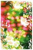 Flores blancas ilustración del vector