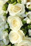 Flores blancas de la boda Foto de archivo libre de regalías