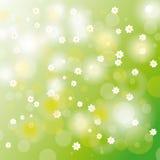 Flores blancas del fondo de la tarjeta de pascua libre illustration