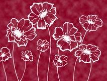 Flores blancas estilizadas libre illustration