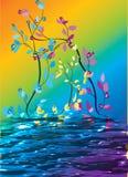 Flores bonitas abstratas ilustração royalty free