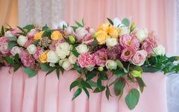Flores bonitas do casamento Decoração do evento Fotografia de Stock Royalty Free