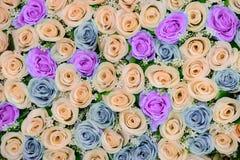 Flores bonitas fundo e textura para a cena do casamento Fotos de Stock