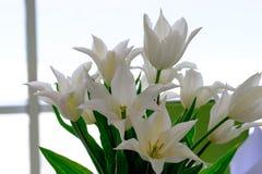 Flores bonitas na tabela no dia do casamento Fotografia de Stock Royalty Free