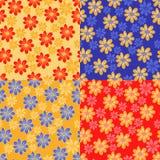Flores bonitos. cor quatro diferente ilustração stock