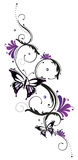 Flores, borboleta, gavinha Foto de Stock Royalty Free