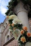 Flores brancas do casamento Imagens de Stock