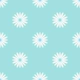 Flores brancas na luz - teste padrão sem emenda do fundo azul Imagem de Stock