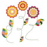 Flores brilhantes Fotografia de Stock Royalty Free