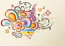 Flores brilhantes abstratas Foto de Stock Royalty Free