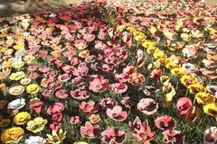Flores cerâmicas Fotos de Stock