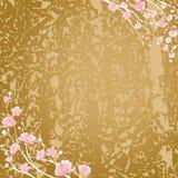 Flores cereza y fondo de la textura Imagenes de archivo