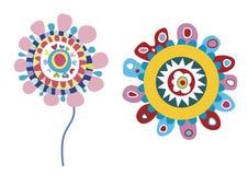 Flores cobardes del vector Imagen de archivo