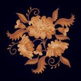 Flores cobridas com sapê Imagens de Stock Royalty Free