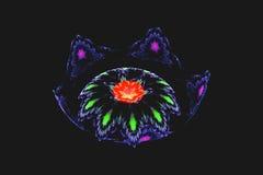 Flores coloreadas fractal del mechero de gas Imagen de archivo