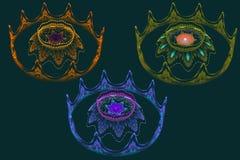Flores coloreadas fractal del mechero de gas Fotografía de archivo libre de regalías