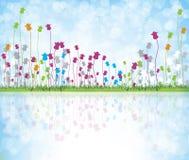 Flores coloridas ilustração stock