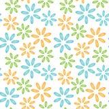 Flores coloridas de los mejillones de las cáscaras del modelo inconsútil Fotografía de archivo libre de regalías