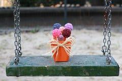 Flores coloridas de suspensão do sabão Fotos de Stock Royalty Free