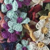 Flores coloridas del trabajo de la aguja Fotos de archivo