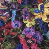 Flores coloridas del trabajo de la aguja Foto de archivo libre de regalías
