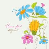 Flores coloridas del verano stock de ilustración