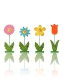Flores coloridas do brinquedo fotografia de stock