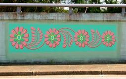 Flores coloridas murais em James Road em Memphis, Tennessee fotos de stock