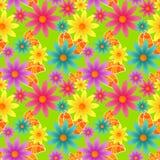 Flores coloridas sem emenda Ilustração do Vetor