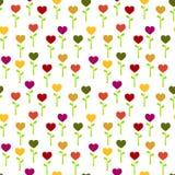 Flores coloridas sem emenda do coração Ilustração Stock