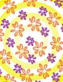 Flores com listras Imagens de Stock
