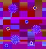 Flores com quadrados Imagens de Stock