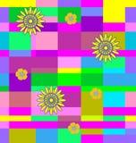 Flores com quadrados Fotos de Stock