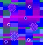 Flores com quadrados Imagem de Stock Royalty Free