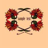 Flores com texto da amostra Foto de Stock Royalty Free