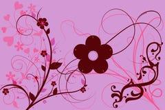 Flores com um fundo da cor Foto de Stock