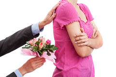 Flores como consolación Imagen de archivo libre de regalías