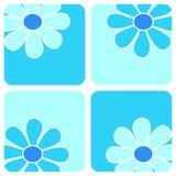 Flores - composição azul ilustração royalty free