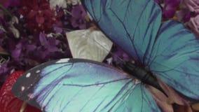 Flores con la mariposa falsa